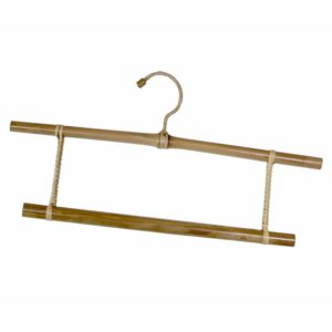 Bamboo Double Clothes Hanger